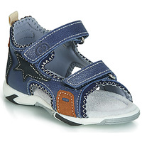 Shoes Boy Sandals Citrouille et Compagnie JATILEME Blue / Clear