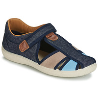 Shoes Boy Sandals Citrouille et Compagnie JOLIETTE Jean / Blue / Beige