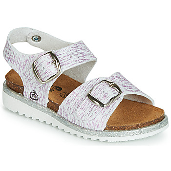 Shoes Girl Sandals Citrouille et Compagnie JANETTA White / Violet