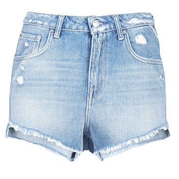 material Women Shorts / Bermudas Replay PABLE Blue / 010