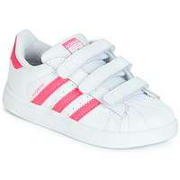 Shoes Girl Low top trainers adidas Originals SUPERSTAR CF I Pink