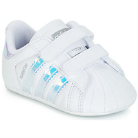 Shoes Girl Low top trainers adidas Originals SUPERSTAR CRIB White
