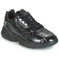 Shoes Women Low top trainers adidas Originals FALCON W Black / Glitter