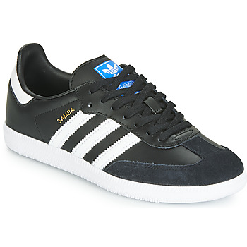 Shoes Children Low top trainers adidas Originals SAMBA OG J Black / White