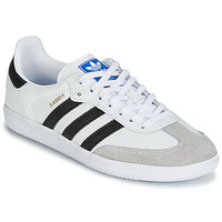 Shoes Children Low top trainers adidas Originals SAMBA OG J White / Black