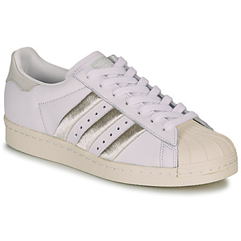 Shoes Women Low top trainers adidas Originals SUPERSTAR 80s W White / Beige