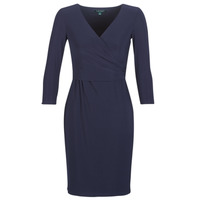 material Women Short Dresses Lauren Ralph Lauren 3/4 SLEEVE DAY DRESS Marine
