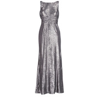material Women Long Dresses Lauren Ralph Lauren SLEEVELESS EVENING DRESS GUNMETAL Grey / Silver