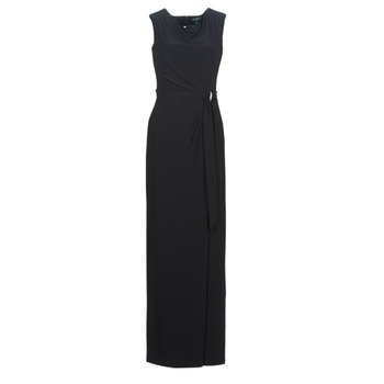 material Women Long Dresses Lauren Ralph Lauren CAP SLEEVE JERSEY EVENING DRESS Black