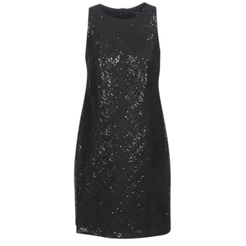 material Women Short Dresses Lauren Ralph Lauren SEQUINED SLEEVELESS DRESS Black