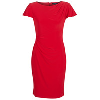 material Women Short Dresses Lauren Ralph Lauren SHORT SLEEVE JERSEY DAY DRESS Red