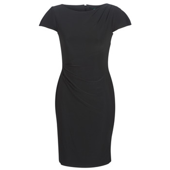 material Women Short Dresses Lauren Ralph Lauren SHORT SLEEVE JERSEY DAY DRESS Black