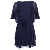 material Women Short Dresses Lauren Ralph Lauren NAVY-3/4 SLEEVE-DAY DRESS Marine