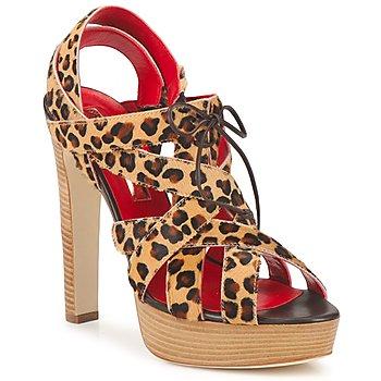 Shoes Women Sandals Rupert Sanderson BRISE Leopard