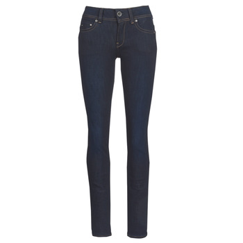 material Women straight jeans G-Star Raw MIDGE SADDLE MID STRAIGHT Blue / Dark / Aged