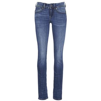 material Women straight jeans G-Star Raw MIDGE SADDLE MID STRAIGHT Blue / Medium / Indigo / Aged