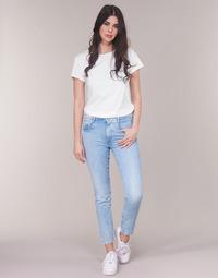 material Women straight jeans G-Star Raw RADAR MID BOYFRIEND TAPERED Blue / Light / Aged