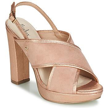 Shoes Women Sandals Menbur VILLALBA Pink / Gold