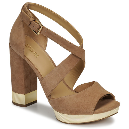 Shoes Women Sandals MICHAEL Michael Kors VALERIE PLATFORM Camel