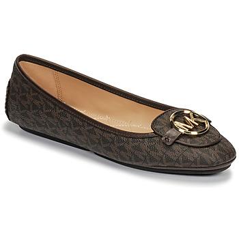 Shoes Women Ballerinas MICHAEL Michael Kors LILLIE MOC Brown