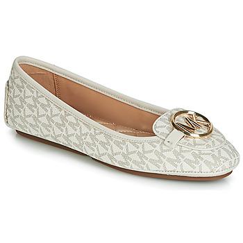 Shoes Women Ballerinas MICHAEL Michael Kors LILLIE MOC Beige