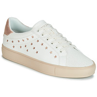 Shoes Women Low top trainers Esprit Colette Star LU White / Pink / Gold
