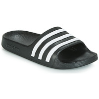Shoes Children Tap-dancing adidas Performance ADILETTE AQUA K Black / White
