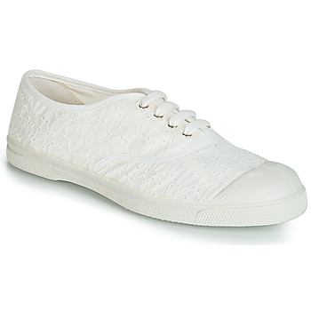 Shoes Women Low top trainers Bensimon TENNIS BRODERIE ANGLAISE White