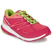 Shoes Women Running shoes Salomon SENSE PULSE WOMAN Pink / Orange / Green