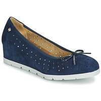Shoes Women Ballerinas Stonefly MILLY 2 GOAT SUEDE Blue