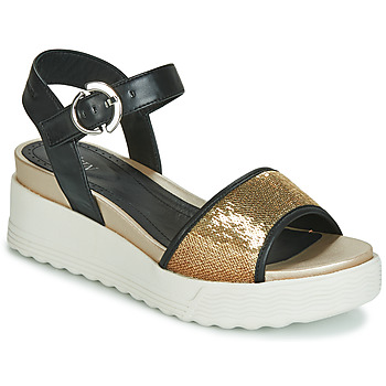 Shoes Women Sandals Stonefly PARKY 3 NAPPA/PAILETTES Black