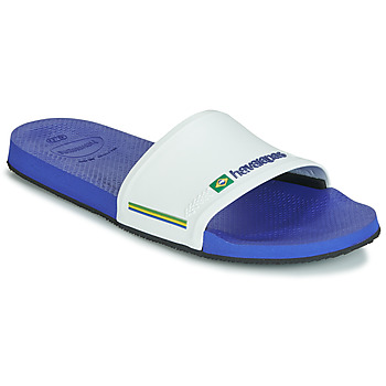 Shoes Men Tap-dancing Havaianas SLIDE BRASIL Marine / White