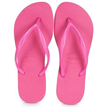 Shoes Women Flip flops Havaianas SLIM Pink