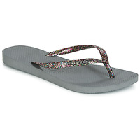 Shoes Women Flip flops Havaianas SLIM LOGO METALLIC Grey