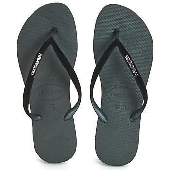 Shoes Women Flip flops Havaianas SLIM VELVET Black