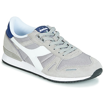 Shoes Men Low top trainers Diadora TITAN II Grey / Blue