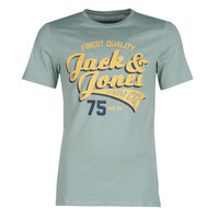 material Men short-sleeved t-shirts Jack & Jones JJELOGO Green