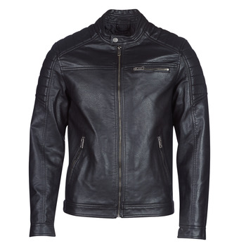material Men Leather jackets / Imitation leather Jack & Jones JCOROCKY Black