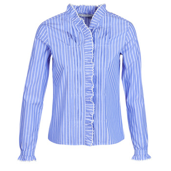 material Women Shirts Maison Scotch LONG SLEEVES SHIRT Blue / Clear