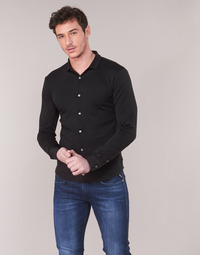 material Men long-sleeved shirts Emporio Armani YOULLINE Black