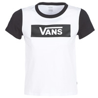 material Women short-sleeved t-shirts Vans V TANGLE RANGE RINGER White