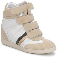 Shoes Women High top trainers Serafini MANATHAN SCRATCH White beige blue