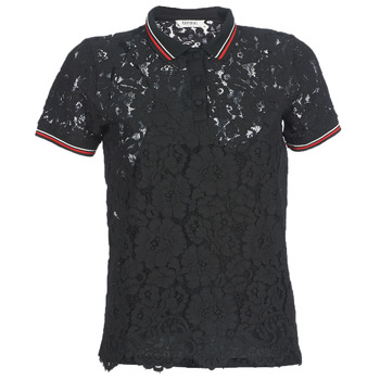 material Women short-sleeved polo shirts Kaporal BRIKS Black