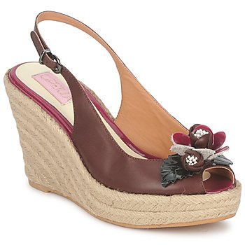 Shoes Women Sandals C.Petula GLORIA Brown / Fuschia