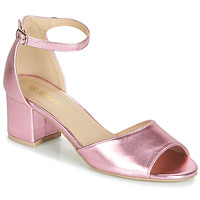 Shoes Women Sandals Moony Mood INDRETTE Pink / Metal
