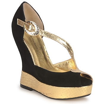 Shoes Women Sandals Terry de Havilland PENNY Black-gold