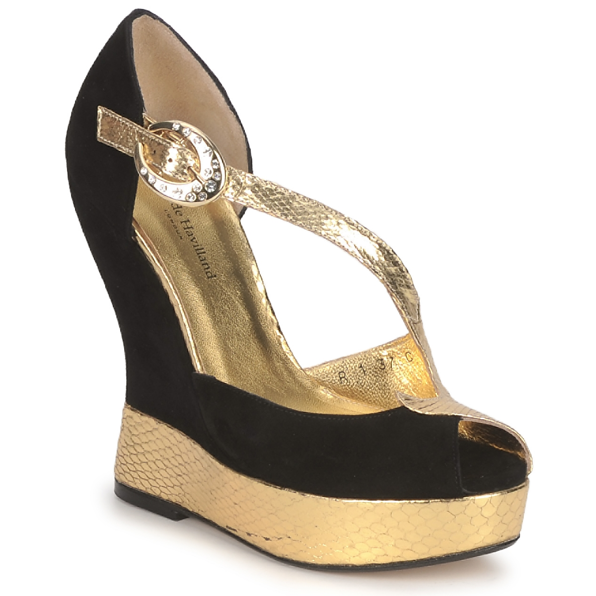Sandals Terry de Havilland PENNY Black-Gold