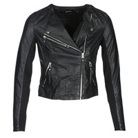 material Women Leather jackets / Imitation leather Vero Moda VMRIA FAV Black