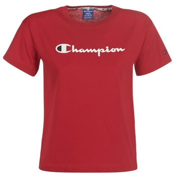 material Women short-sleeved t-shirts Champion 111393-RIR Bordeaux