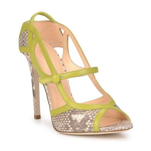 Shoes Women Sandals Roberto Cavalli RPS678 Python / Green